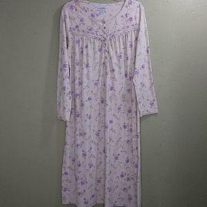 Lanz of Salzburg Ballet Length Knit Nightgown L